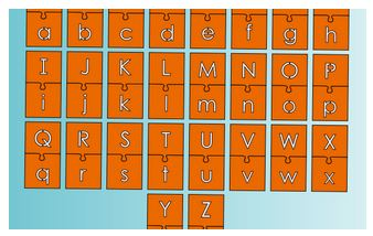 Letters-Alphabet Puzzle Pieces Lesson Plan