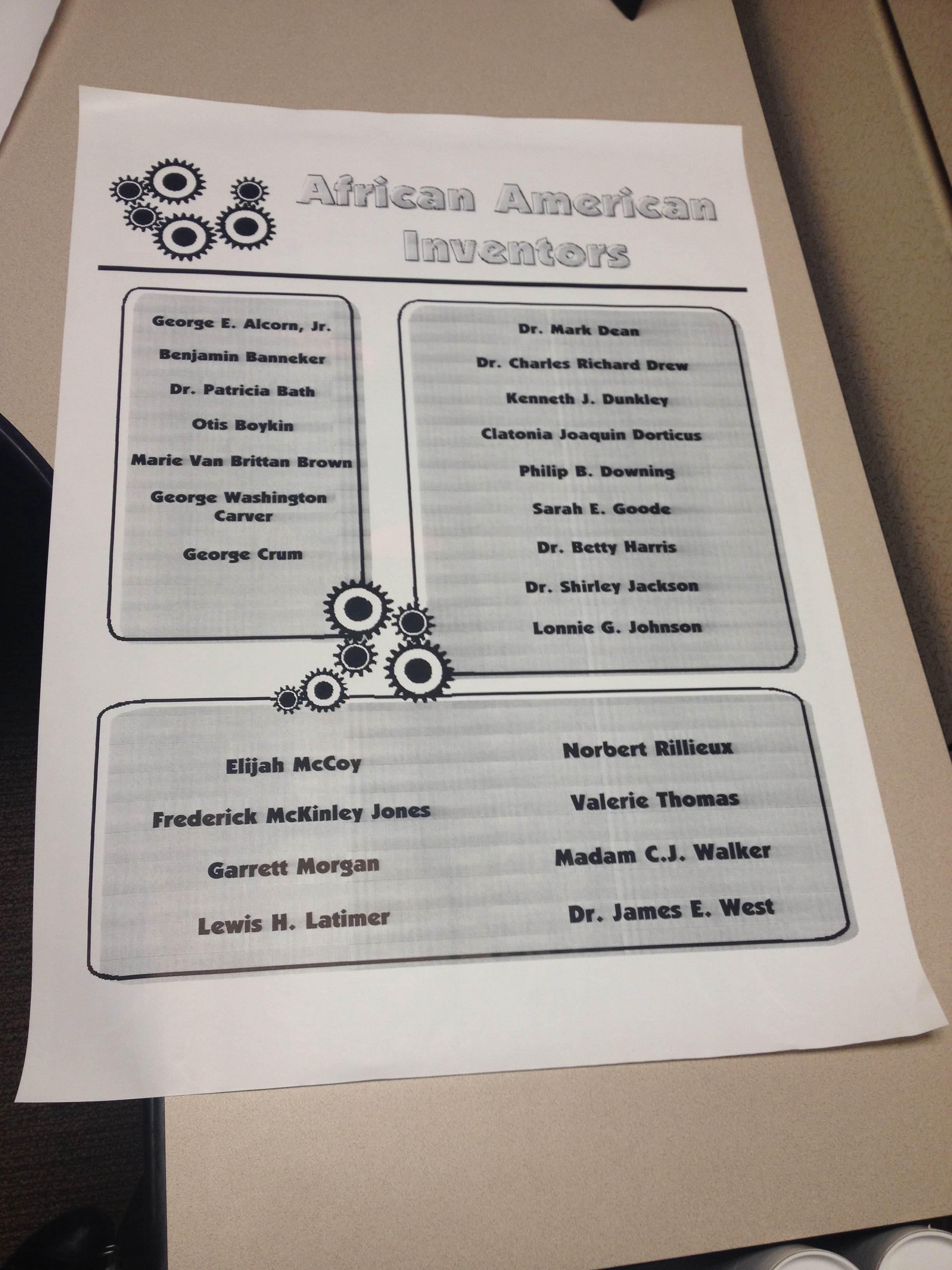 Grades K-5 Lesson: Exploring African-American Inventors