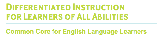 Focusing on Common Core: English Language Learners