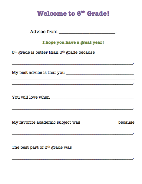 End-of-Year Activity for Grades 6-8: Advice Column Scavenger Hunt