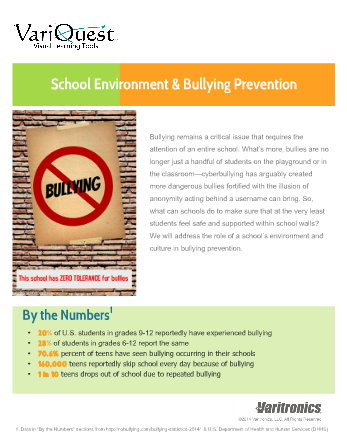 Interactive PDF: School Environment & Bullying Prevention