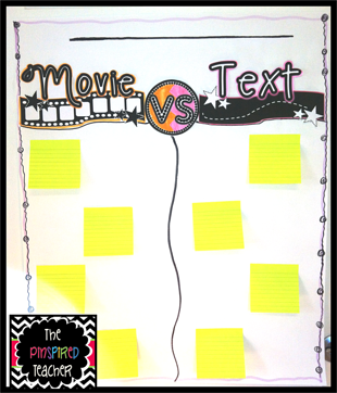 Movie versus Text Anchor Chart by The Pinspired Teacher resized 600