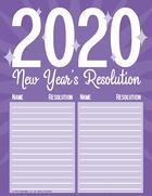2020 New Years Resolution Poster Thumb