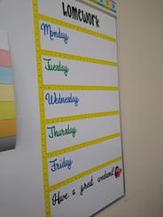 Homework Schedule Cutout Maker
