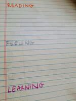 reading feeling learning journal notebook