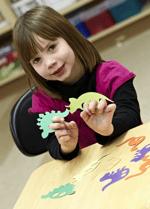 elementary cutout maker girl