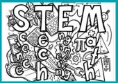 STEM coloring page enews thumb