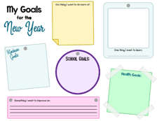 my goals for the new year poster