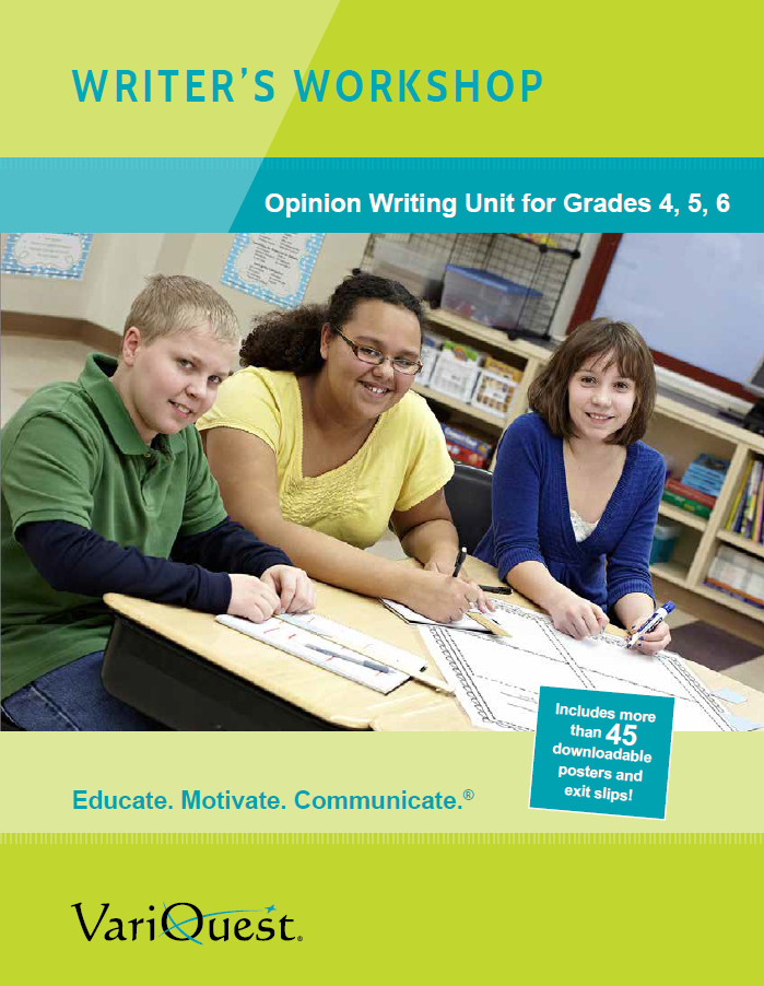 VariQuest Opinion Writing Unit for Intermediate Classrooms